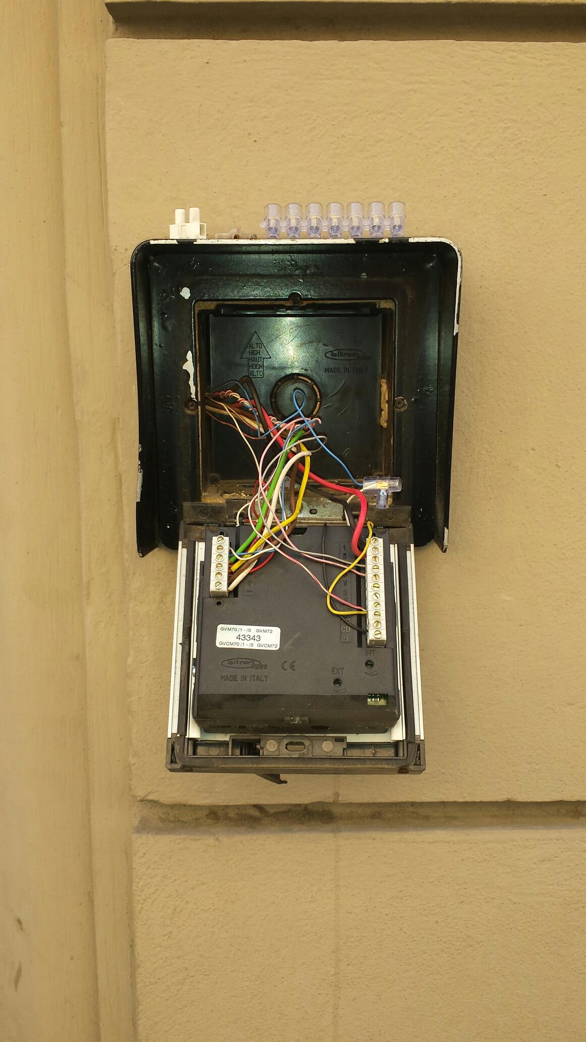 Bitron Schemi Elettrici : Riparazione guasto videocitofono bitron firenze u elettricista